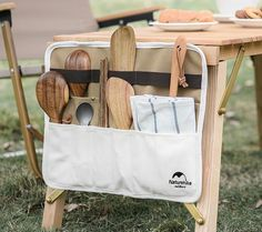 Cutlery Storage Bag Holder for Camping Hiking Picnic & BBQ - A