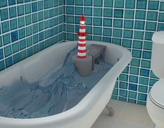 """Check out new work on my @Behance portfolio: """"The bath 3D"""" http://on.be.net/1Ot3WBf"""