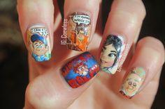Coewless: Wreck it Ralph nail art