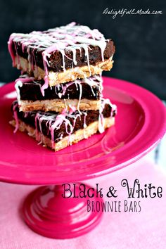 A sugar cookie layer meets a brownie layer - they come together for one amazingly delicious Black & White Brownie Bar!