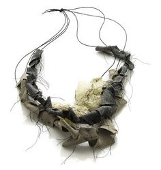 Textiles Necklace exploring the impermanence and incompleteness of memories // Amy Tavern