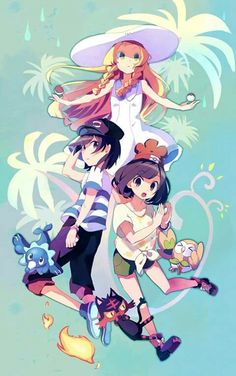 Pkm Sun and Moon: Sun, Moon, and Lillie View full-size kB. Pokemon Mew, Pokemon Manga, Pokemon Comics, Pokemon Fan Art, Pikachu, Pokemon Stuff, Pokemon People, Pokemon Special, Sun Moon