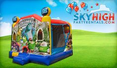 Monsters University Moonwalk Rentals and slides in Houston, Texas - Sky High Party Rentals - Rent a Monsters Inc Moon Bounce today! (281) 606-5867