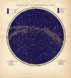sterrenkaart van den noordelijken hemel