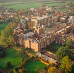 Eton College (now within Berkshire) British College, Uk College, Top Universities, Windsor Castle, Beautiful Architecture, British Isles, Historic Homes, Aerial View, Great Britain