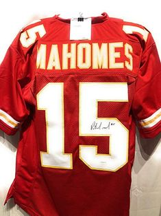 454281312f9 Patrick Mahomes Kansas City Chiefs Signed Autograph Red Custom Jersey TSE  Sports Certified #ad #kansascitychiefs #chief #signed #autograph #signature  ...