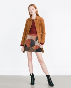 Image 1 of SUEDE COAT from Zara