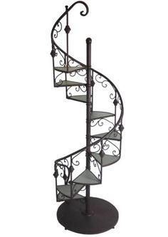 Escalier echelle escabeau d coratif etag re porte plante for Etagere bois epaisse