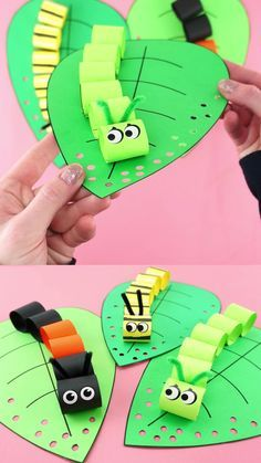 Spring Crafts For Kids, Diy Crafts For Kids, Fun Crafts, Art For Kids, Spring Crafts For Preschoolers, Crafts For Children, Paper Crafts Kids, Craft Work For Kids, Easy Toddler Crafts