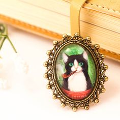 cat ring cat jewelry cat lover gift statement ring dome by dauz,