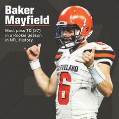 Image may contain: football Cleveland Team, Cleveland Browns Football, Ou Football, Football Fever, Football Helmets, Cleveland Rocks, Football Season, Baker Mayfield Nfl, Nfl Redzone