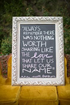 i like the idea of using chalk on picture frames...looks classy =]