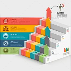 by graphixmania business staircase infographics template. Can be used for workflow layout, banner, diagram, web design, timeline. The ZIP file Web Design, Layout Design, Chart Design, Graphic Design, Powerpoint Slide Designs, Powerpoint Presentation Templates, Powerpoint Charts, Timeline Design, Information Graphics