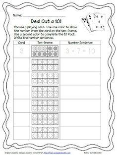 Classroom Freebies: Deal Out a Ten