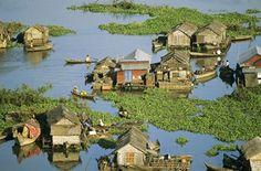 Le village flottant de Chong Khneas est une sorte de Venise asiatique.