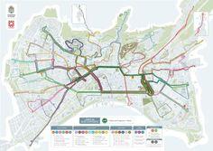 Para el que no quiera o no pueda coger el coche. Plano de la Nueva Red Urbana de Transporte Público de #Granada.