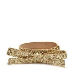 Gold glitter bow belt - kate spade