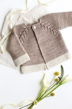 """diy_crafts- Baby Knitting Patterns Lovely Knit Top Down Cardigan Baby Sweater. """"Lovely Knit Top Down Cardigan Baby Sweater \""""Lovely Knit Top Do Baby Sweater Patterns, Baby Cardigan Knitting Pattern, Knit Baby Sweaters, Knitted Baby Clothes, Baby Knits, Crochet Cardigan, Toddler Sweater, Crochet Clothes, Diy Clothes"""