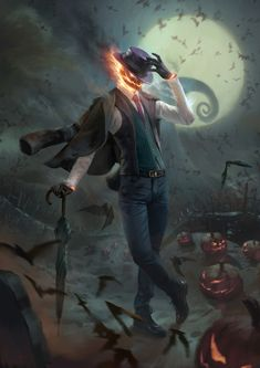 Spooky Jack O' Lantern 2, Billy Christian on ArtStation at https://www.artstation.com/artwork/gQ6xm