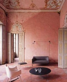 Interior And Exterior, Interior Design, Design Design, Pink Walls, Color Stories, Amazing Architecture, Architecture Design, Wabi Sabi, Interior Inspiration