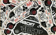 ABCNT Silkscreen stickers