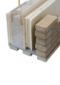 Concrete Patio Designs, Concrete Bricks, Eco Architecture, Concept Architecture, Wagon Wheel Decor, House Cladding, Home Insulation, Passive House, Building Systems