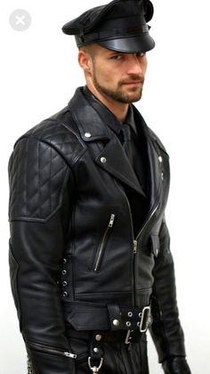 Leather Jeans, Biker Leather, Black Leather, Leather Jackets, Stylish Jackets, Stylish Men, Leder Outfits, Herren Outfit, Men In Uniform