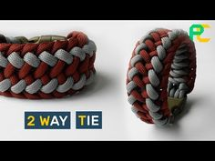 How to make Paracord Bracelet 2 way tie - YouTube