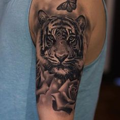 Tiger tattoo by Jose Contreras #Tattoo #NoRegrets