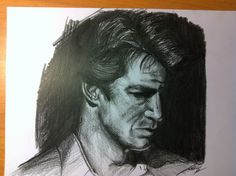 Nathan Fillion - charcoal