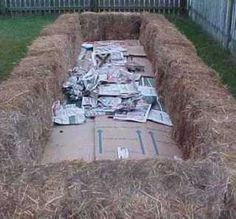 Straw Bale Gardening. Similar to Hugelkultur? Worth a try!