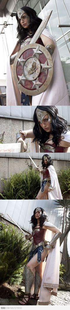 Warrior Wonder Woman by Meagan Marie.  I think it's an awesome piece of work, except I can't tell...is she in heels?