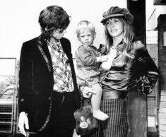 Keith Richards, Marlon Richards, and Anita Pallenberg - 1970