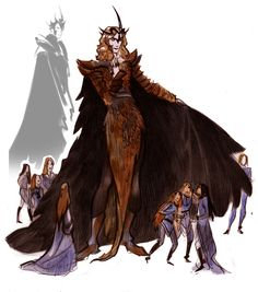 It's been such a long time since I've read 'The Silmarillion', and I think Phobs' drawings of Sauron have prompted me into a re-read and maybe even designing my own costume for Sauron...that or ask very nicely if he wouldn't mind me basing a costume off of his design.