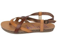 Vegan Shoes & Bags: Granola Strappy Sandal by Blowfish in Multi-Colored