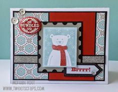CTMH October 2014 SOTM Home for the Holidays polar bear card with Snowhaven by TweetScraps