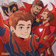 Team Space in Marvel Marvel Avengers, Marvel Comics, Marvel Memes, Spideypool, Superfamily Avengers, Marvel Fanart, Loki, Thor, Familia Anime
