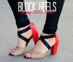Stiletto who? Chunky block heels are the new hot shoe for spring! Wear them high or low, in a sleek solid or bold pattern. Whatever your preference, give your feet a break. Remember its all about the width,...