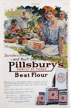 Sammich :) Vintage Pilsbury ad.