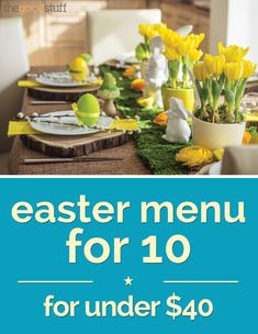 Easter Menu for 10 — For Under $40 - thegoodstuff