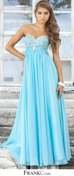 sky blue prom dress,long prom dress