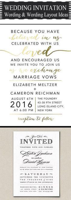 most popuplar wedding invitation verse and wording template ideas