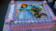 Baby Cakes, Girl Cakes, Sofia Birthday Cake, Birthday Wishes Cake, Bolo Sofia, Princess Sofia Cake, Sophia Cake, Butterfly Cakes, Unique Cakes