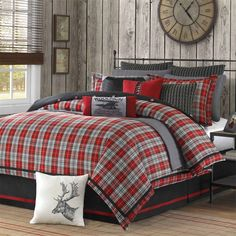 Plaid and pillow