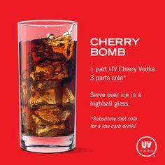 UV Vodka Recipe: Cherry Bomb