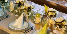 Eine frische Frühlings-#Tischdeko mit edlen Perlen! Easter, Table Decorations, Wedding, Home Decor, Garden Parties, Napkins, Newlyweds, Classic, Decorating Ideas