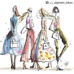 Workshop! on  4/22😘💋  #Repost @pigment_tokyo with @repostapp  ・・・  Painting Watercolor Postcard Workshop will be held on 4/22!  Please come join us to create colorful postcards.  #art #postcard #workshop   http://ptix.co/2mSOYh1    #watercolor #illustration #fashionillustration #fashion #illust #natsukiito #illustrator #art #drawing #painting #伊藤ナツキ #イラスト #イラストレーター #zecchi
