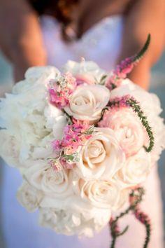 white rose bridal bouquest destin Florida