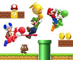 Super Mario Bros Background   New Super Mario Bros. Wii Wallpaper - 1920x1200. Click for big pic