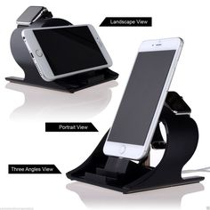 The solid stand for Apple watch/iPhone is constructed of premium aluminum, precise charger, cable openings support the iwatch at a stable display and quick charging, the iPhone charging stand provides comfortable viewing angle for watching, reading, or facetime.   It's a nice choice for your apple watch and iPhone as well as a nice gift.